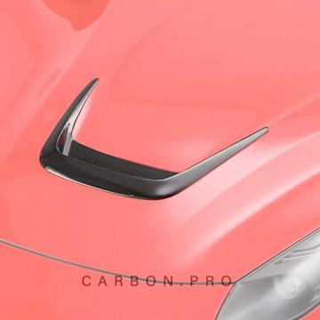 Карбоновая вставка в центральный воздухозаборник на капот Novitec Style для Ferrari F12 Berlinetta