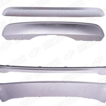 Накладки на бамперы серебряные GBT для BMW X5 F15