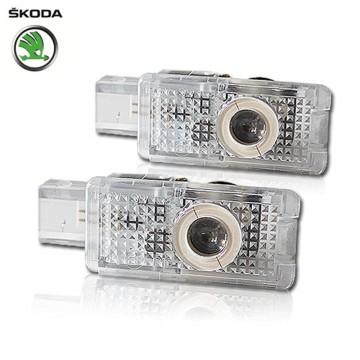 Светодиодная подсветка дверей Optima Premium на Skoda