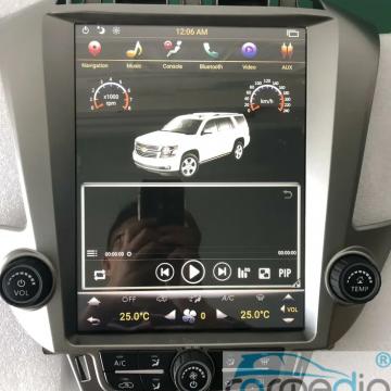Штатное головное устройство Carmedia NH-1201-P6-8 Tesla-Style для Chevrolet Tahoe, Suburban
