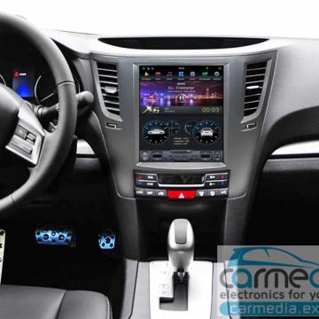 Штатное головное устройство Carmedia ZF-1070-B-DSP-X6 Tesla-Style для Subaru Legacy, Outback