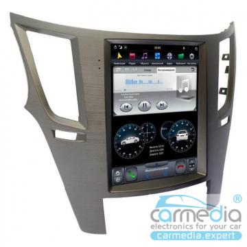 Штатное головное устройство Carmedia ZF-1070-S-DSP-X6 Tesla-Style для Subaru Legacy, Outback
