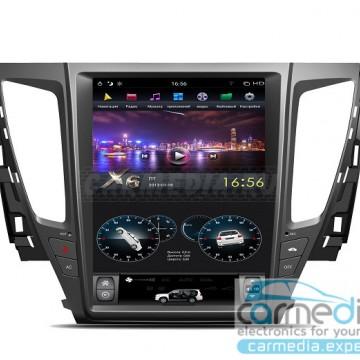 Штатное головное устройство Carmedia ZF-1236-DSP-X6 Tesla-Style для Mitsubishi Pajero Sport, L200