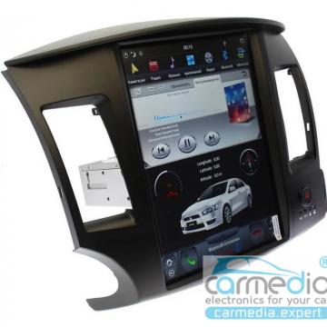 Штатное головное устройство Carmedia ZF-1259-DSP-X6 Tesla-Style для Mitsubishi Lancer X