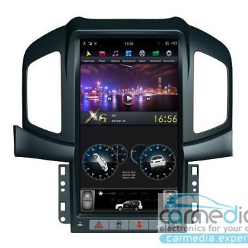 Штатное головное устройство Carmedia ZF-1803-DSP-X6 Tesla-Style для Chevrolet Captiva