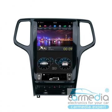 Штатное головное устройство Carmedia ZF-1827B-DSP-X6 Tesla-Style для Jeep Grand Cherokee