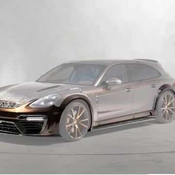 Карбоновый широкий обвес (с радаром или без) Mansory Style для Porsche Panamera