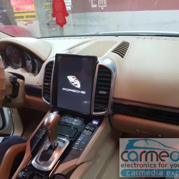 Штатное головное устройство Carmedia NH-1004-P6-8 Tesla-Style для Porsche Cayenne