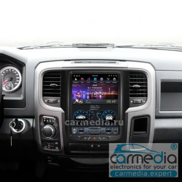 Штатное головное устройство Carmedia ZF-1106-DSP-X6 Tesla-Style для Dodge RAM 1500
