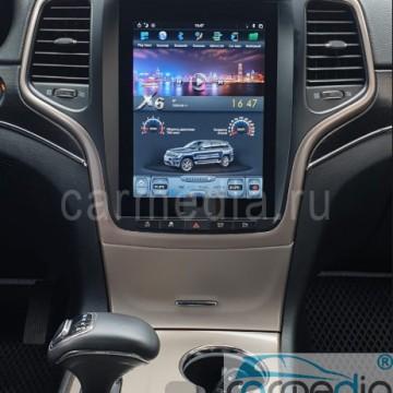 Штатное головное устройство Carmedia ZF-1217G-DSP-X6 Tesla-Style для Jeep Grand Cherokee