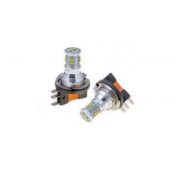 Светодиодные лампы Optima Premium MINI H15 белые с обманкой